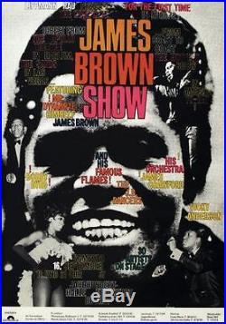 JAMES BROWN German A1 concert poster 1967 GUNTHER KIESER Art ULTRA RARE
