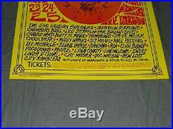 JIMI HENDRIX Airplane LED ZEPPELIN others Original 1969 Festival Concert Poster
