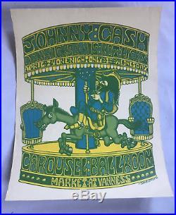 JOHNNY CASH Dan Hicks Carousel Ballroom Concert Poster Original 1968