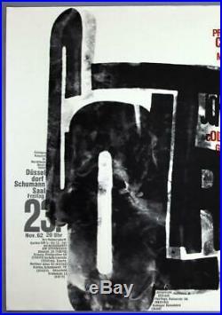 JOHN COLTRANE QUARTET mega rare original Düsseldorf 1962 concert poster KIESER