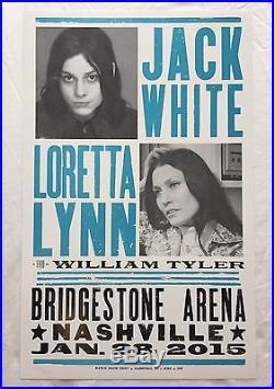 Jack White / Loretta Lynn Hatch Show Print Concert Poster @ Nashville 2015 TMR