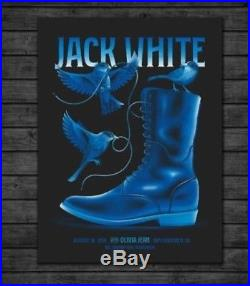 Jack White San Francisco 8/16/18 Concert Poster Signed and Numbered