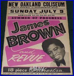 James Brown And Revue New Oakland Coliseum 1967 Original Concert Poster New York