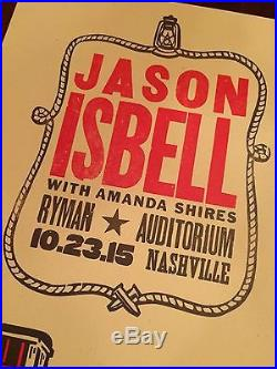 Jason Isbell Amanda Shires Hatch Show Print Concert Poster Ryman Auditorium