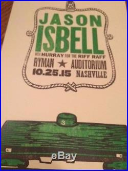 Jason Isbell Hurry for the Riff Raff Hatch Show Print Concert Poster from Ryman