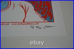 Jermaine Rogers AUDIOSLAVE Signed AP Silkscreen Concert Poster 2005
