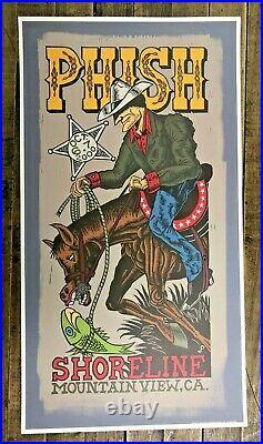 Jim Pollock 2000 Phish Shoreline (Colored) Concert Poster Trey Anastasio