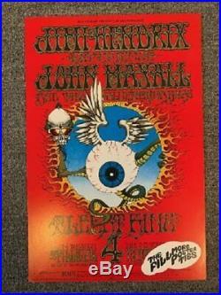 Jimi Hendrix Concert Poster 1968 Fillmore Eyeball 3rd Printing