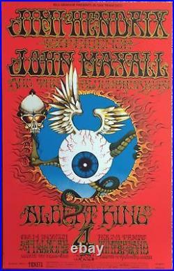Jimi Hendrix Flying Eyeball Fillmore 1968 Concert Poster