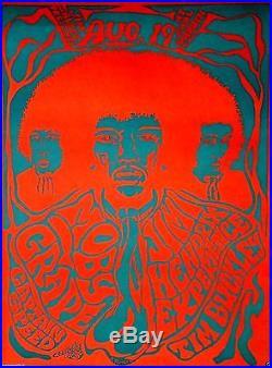 Jimi Hendrix Moby Grape Tim Buckley Capt Speed Original 1967 Concert Poster