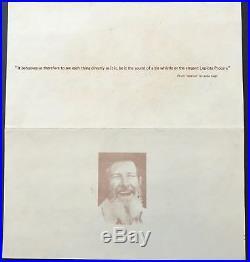 John CAGE (Composer) John Cage in Concert Original Flyer