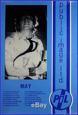 John Lydon Public Image Limited Original 1986 Concert Tour Poster