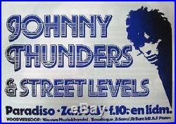 Johnny Thunders Paradiso Amsterdam 1983 Concert Poster Original