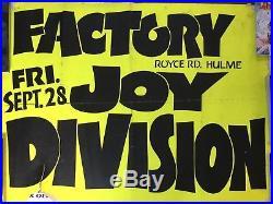 Joy Division Original Gig Concert Poster 1979