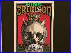 KING CRIMSON 1995 Original Rock Concert Poster Print SIGNED MARK ARMINSKI RARE