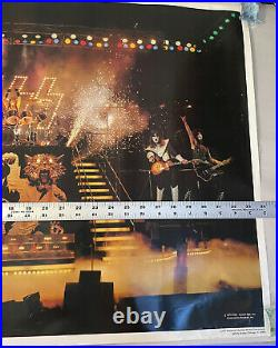 KISS ALIVE II ERA Original 1977 Aucoin / Boutwell Concert Poster 34x23 See De