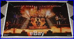KISS Alive 2 Concert Stage Boutwell Poster 1977 Aucoin Gene Simmons Ace Frehley