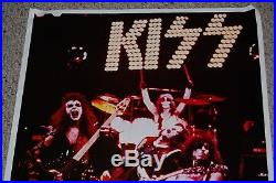 KISS Vintage Alive Concert Stage Poster 1975 Boutwell Aucoin Simmons Ace Frehley