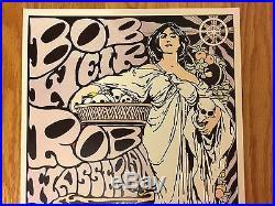 KOZIK Print BOB WEIR Texas Concert Tour 1991 ORIGINAL SIGNED Poster 11x16