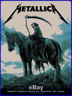 Ken Taylor Metallica Germany Concert Art Print Poster Artist Edition
