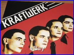 Kraftwerk Vintage Concert Poster 1981 Berlin Metropol Mensch Maschine Original