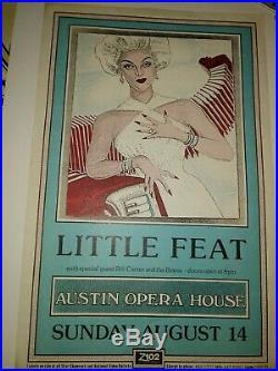LITTLE FEAT 8 -14 1988 Austin Opera House Austin TX concert poster JAGMO rare