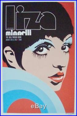 LIZA MINNELLI Hollywood Bowl 2009 Limited edition Concert poster KII ARENS NM