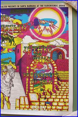 Led ZeppelinJethro TullSanta Barbara August 1969 Concert Poster 1st Print New