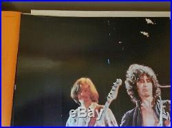 Led Zeppelin 1976 Live Concert Shot Jimmy Page Robert Plant Vintage Nos Poster