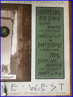 Led Zeppelin And The Byrds Original 1970 28 X 21 Large Concert Poster (BG 246)