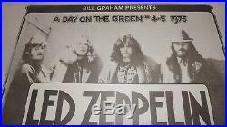 Led Zeppelin Joe Walsh Bill Graham 1975 Original Concert Poster Randy Tuten