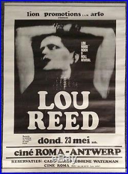 Lou Reed Rock'N' Roll Animal Cine Roma Antwerp Belgium 1974 CONCERT POSTER