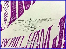 Love Janis Joplin 1966 Concert Poster Avalon Fd17 Fillmore Signed Mouse Original