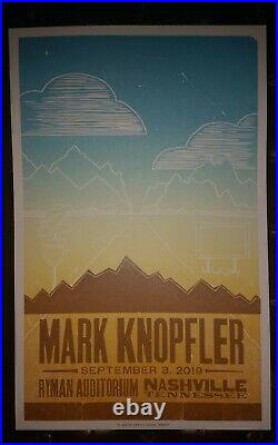 MARK KNOPFLER Ryman 2019 HATCH SHOW PRINT Nashville Concert Poster DIRE STRAITS