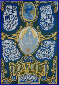 MC5 GRANDE BALLROOM RGP 12 1967 concert poster GARY GRIMSHAW VERY RARE 14x21