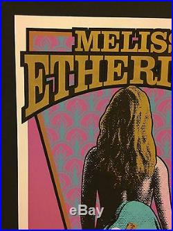 MELISSA ETHERIDGE 1996 Original Concert Poster Print SIGNED MARK ARMINSKI RARE