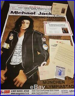 MICHAEL JACKSON & FRIENDS ORIGINAL SIGNED CONCERT POSTER 1999 COA promo smile mj