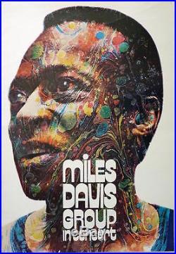 MILES DAVIS 1971 German concert poster A1(23x33.5) GUNTHER KIESER SUPER RARE