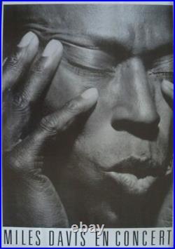 MILES DAVIS 1987 French concert poster JAZZ IRVING PENN 25x40