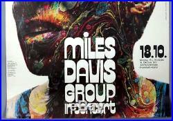 MILES DAVIS mega rare vintage original Frankfurt 1971 concert poster KIESER