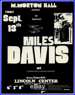 MILES DAVIS super-rare! Original 1974 Concert Handbill / Flyer