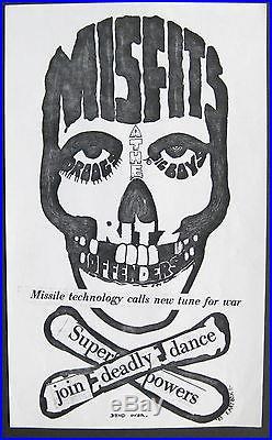 MISFITS The Ritz AUSTIN TEXAS 1983 CONCERT Flyer/Poster BIG BOYS Droogs PUNK