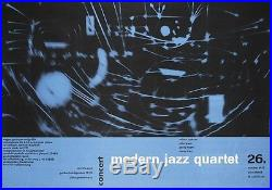 MODERN JAZZ QUARTET 1957 German concert poster A1(23x33.5) GUNTHER KIESER MICHEL