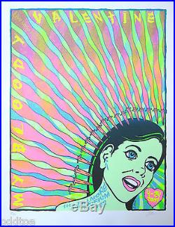 MY BLOODY VALENTINE Original S/N 2009 Concert Poster by Lindsey Kuhn, green girl