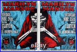 Marilyn Manson Clutch Concert 1995 Poster Set Lindsey Kuhn
