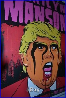 Marilyn Manson concert poster