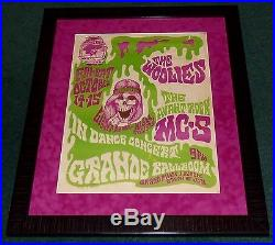 Mc5 The Woolies Grande Ballroom Detroit 1966 Orig Concert Poster Gary Grimshaw