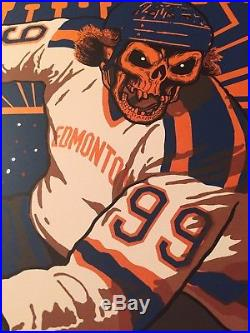 Metallica 2017 Edmonton Concert Poster Metallic Orange Edition # of 70 Ames 8/16