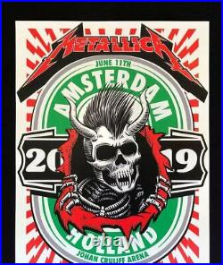 Metallica Amsterdam concert poster 6/11/19 by Acorn show edition