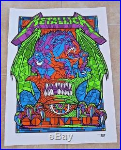 Metallica Columbus Concert Poster Litho Lithograph May 21 2017 Ltd #418 of 450